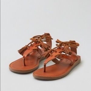 New American Eagle Lace Up Sandals
